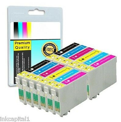 12 X Ink Replacements For Canon Bci-6b Bci-6c Bci-6m Bci-6y Bci-6pm Cli6-pc