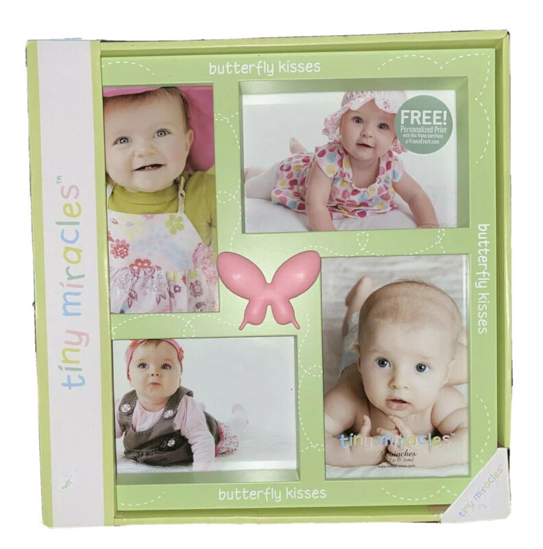 Tiny Miracles Baby Girl Photo Frame Butterfly Kisses