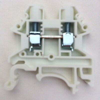 Din Rail Terminal Blocks 10 Quantity Dk4n-we White Dinkle 10 Awg Gauge 30a 600v