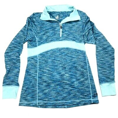 Road Runner Sports Womans Athletic Shirt Size Medium M Long Sleeve Blue Workout -
