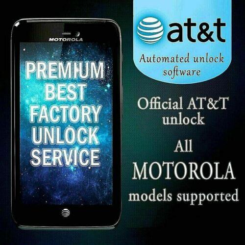 FACTORY UNLOCK SERVICE AT&T CODE MOTOROLA FOR ATRIX MB860 MB886 MB520 MOTO E