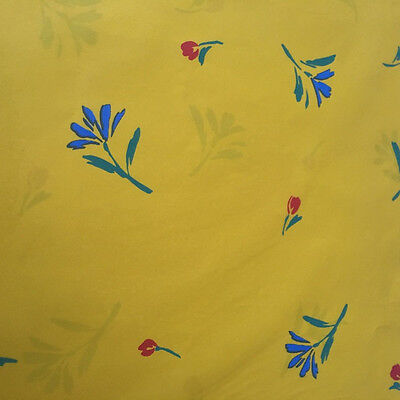 Vintage NEW Hallmark Yellow Red Floral Flower Gift Wrap Sheet Collectible USA  Cherry Blossom Wrapping Paper