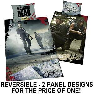 The Walking Dead Single Panel Duvet Cover Bed Set Rick