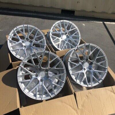18x9 AodHan LS009 5x120 +30 Silver Wheels Aggressive Fits Bmw E90 E92 328 330 5 X 120 Wheels