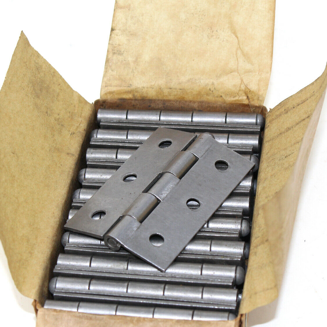 """SELF COLOUR STEEL BUTT HINGES RADIUS CORNERS BUTTERFLY BOXES OF 100mm 4/"""""""
