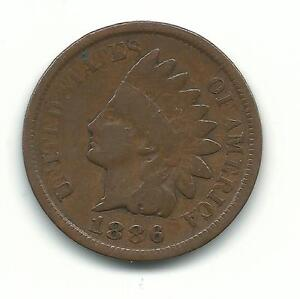 A VERY NICE VERY FINE 1886 TYPE 1 INDIAN HEAD CENT COIN-MAR144