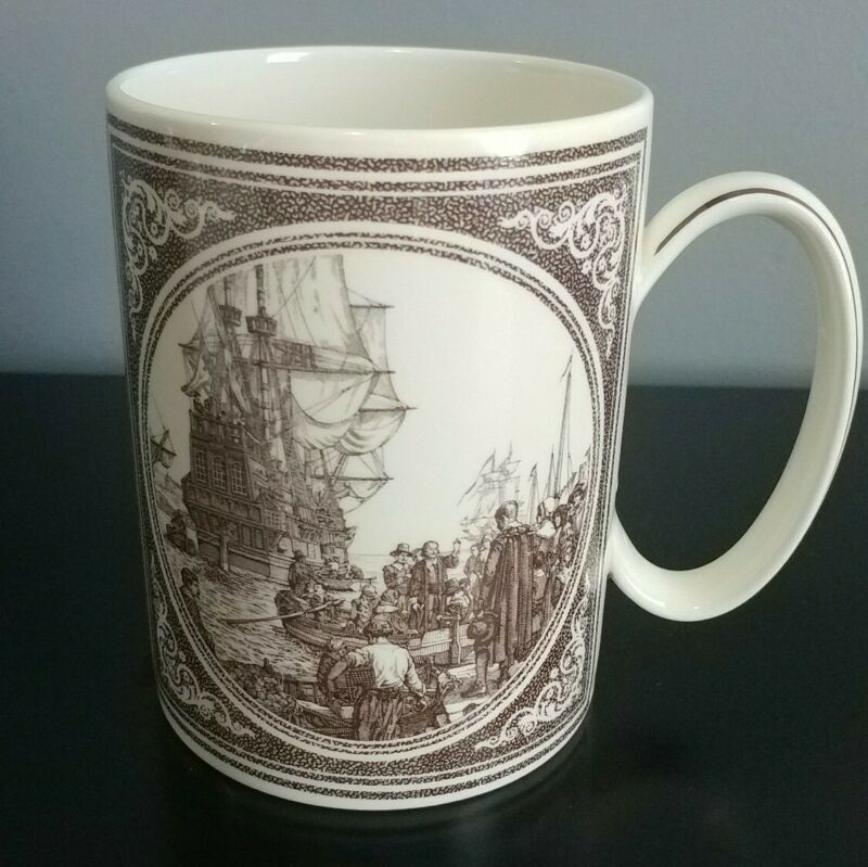 Wedgwood  Commemorative Mug  The Mayflower Mug 16 oz Made in England