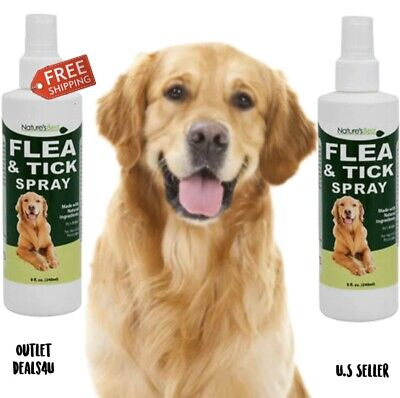2 Natures Best Natural Flea Tick Spray 16 oz Dogs Cats Insect Repellent