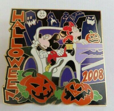 Disney Pin - WOD Store New York Halloween 2008 Mickey Minnie LE 1000  #65532 - Halloween Store Ny