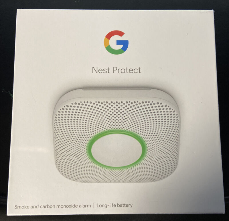 Nest 2nd Generation Smart Smoke/Carbon Monoxide Alarm (Battery) Brand New in Box
