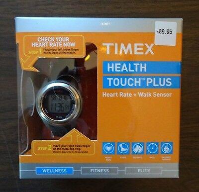 New TIMEX Health Touch Plus Heart Rate + Walk Sensor - Black/Silver