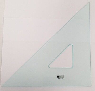 "MARBAUGH 12"" GRAPHIC TRIANGLE 45/90 DEG ACRYLIC ARTS DRAFTING A450-12 GREEN TINT"
