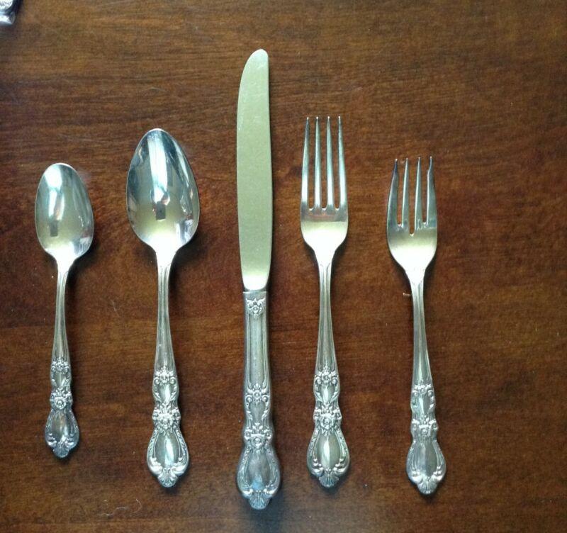 1847 Rogers Bros Silverware Heritage Ten Piece Set Vintage