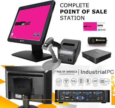 3nstar Complete Point Of Sale Station Touchscreen With Salon Spa Maid Windows10