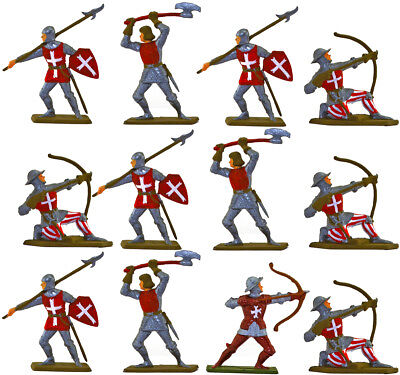Starlux Crusaders - professionally painted 60mm toy soldiers set STX-A