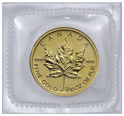 Random Date Canada 1/10 oz .9999 Fine Gold Maple Leaf $5 Coin (Fine Gold Coin)