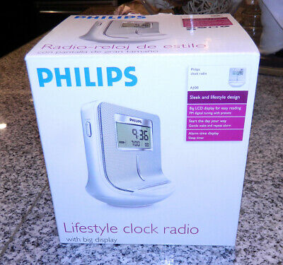 NEW Philips AJ100/37 Lifestyle Digital Alarm Clock AM/FM Radio with Sleep Timer