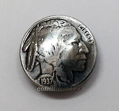 BUFFALO NICKEL INDIAN HEAD REPRODUCTION COIN CONCHO 7/8