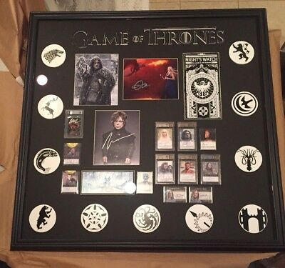 """Game of Thrones MONSTER Frame 40""""x41"""" Autos Emilia Clarke 9.5 BGS and much more!"""