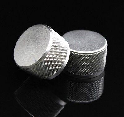 1pcs Knurled Silver 3522 Full Aluminum Amplifierdac Volume Potentiometer Knob