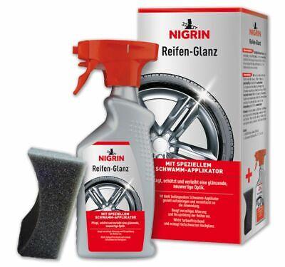 Nigrin Reifen-Glanz Spray Reifen-pflege mit speziellem Schwamm-Applikator 500ml