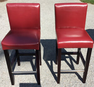 Red Barstool chairs