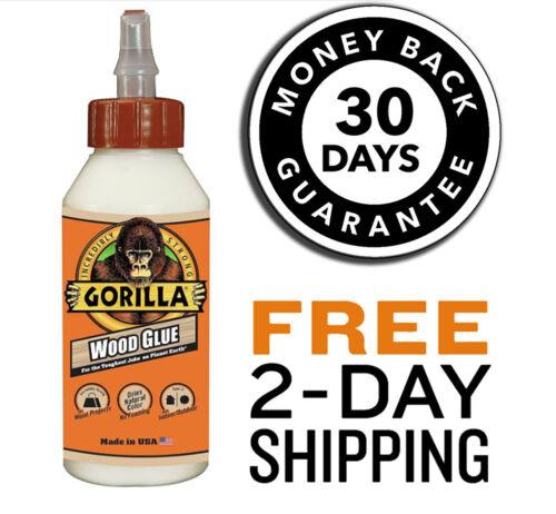 Gorilla Wood Glue 8 ounce Bottle Pack of 1 Liquid Epoxy Waterproof  Applicator