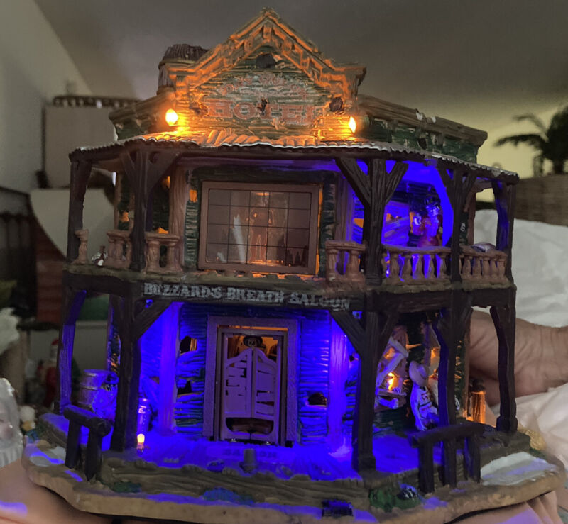 Lemax Spooky Town Halloween Village Dry Gulch Hotel Saloon-FREE SHIPPING