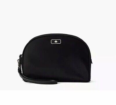 NWT Kate Spade 'Dawn' Medium Dome Cosmetic Bag in Black, #WLRU5373