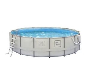 Large Above Ground Pool with ALL Accessories