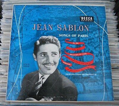 """JEAN SABLON -SONGS OF PARIS 'JE N'EN CONNAIS PAS LA FIN'- 10"""" FRENCH"""