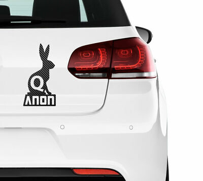 2X QANON Rabbit Hase  Sticker Aufkleber 20x10 cm Trump 17 Q-Anon Carbon