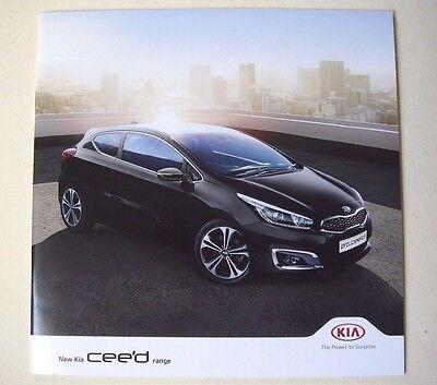 Kia . Ceed . New Kia Ceed . February 2017 Sales Brochure