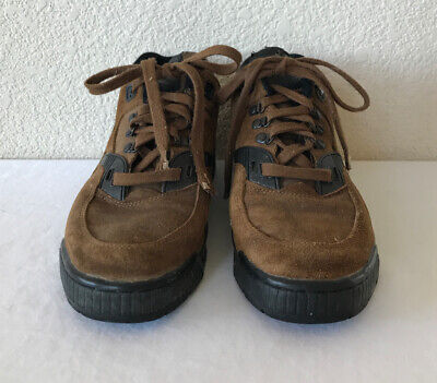 Converse Brown Suede Leather-like Work Hiking Boots Lace-Up Mens Sz 11 Shoes Mens Converse Work Shoes