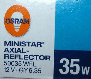 OSRAM Halogen MINISTAR AXIAL-REFLECTOR Halogenlampe Reflektor GY6,35 20W 35W 50W
