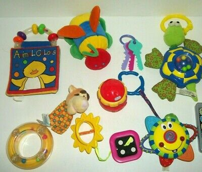 Mixed Lot Baby Toddler Toys Rattle Teething Development Infantino Disney