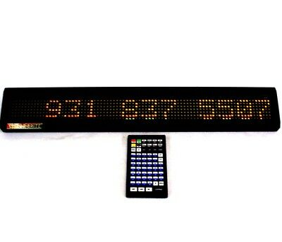 Colorbrite Programmable Led Display Moving Message Sign 25x2 Display Wremote