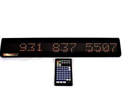 Colorbrite Sw-214c Programmable Led Display Moving Message Sign 25x2 Wremote