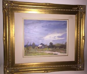 Rare Authentic Beautiful Original Alan Baker Oil Painting New Farm Brisbane North East Preview