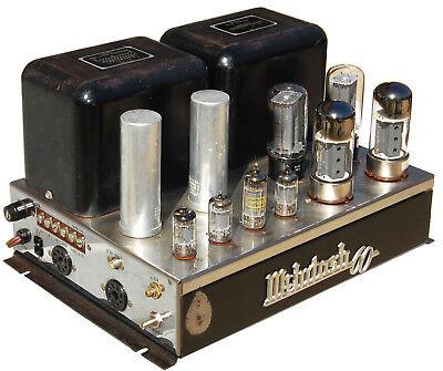 1 McIntosh MC 60 60-Watt MONO BLOCK Tube Power Amplifier AMP GE Telefunken 1of2
