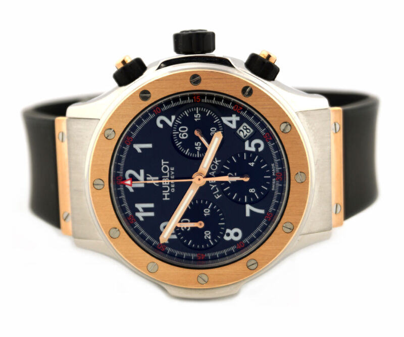 HUBLOT SUPER B FLYBACK CHRONOGRAPH 1926.7 18K ROSE GOLD STEEL WATCH - watch picture 1