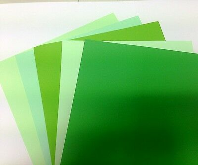 50 SHEET A4 CARD STOCK ASSORTED GREENS COLOUR PACK 160gms ART CRAFT CARDS 05
