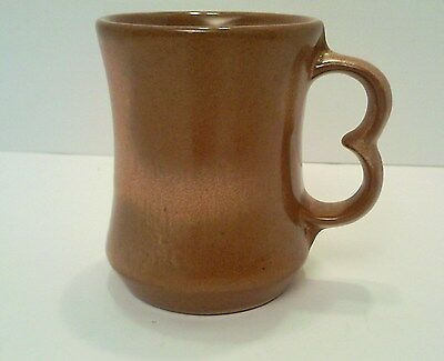 FRANKOMA C9 POTTERY PLAINSMAN TAN/BROWN COFFEE MUG