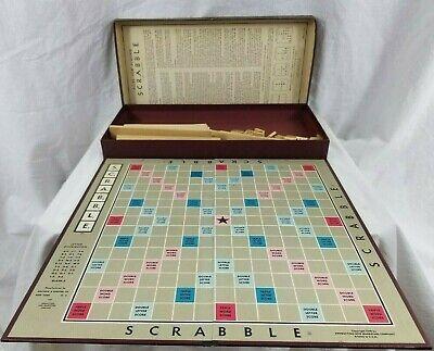 Vintage Scrabble Board Game & Original Paper - Selchow & Righter Co. Board 1948!