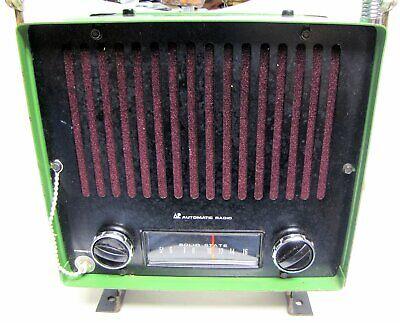 Vintage Tractor Radio Mod. Tr-7550 Automatic Radio Mfg. Co Used John Deere