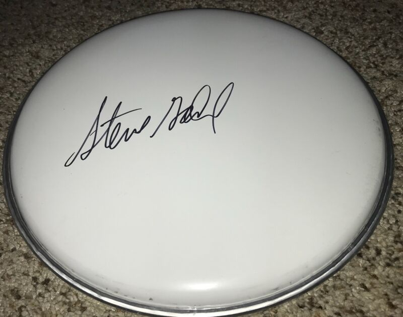 Steve Gadd Signed Drumhead With Proof