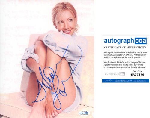 HEATHER LOCKLEAR signed Autographed 8X10 PHOTO - Hot SEXY Melrose Place ACOA COA