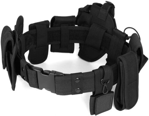 Tactical Belt Modular Heavy Duty Belt Military Utility Belt with Pouches Holster