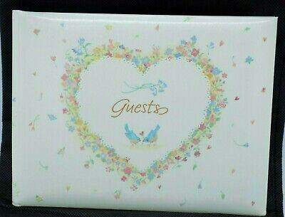 Hallmark Wedding Guest Book Heart Bluebirds Flowers Of Love White Memories