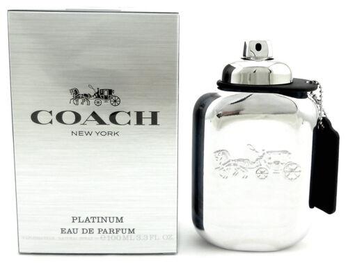 Coach New York Platinum Cologne 3.3 oz. Eau de Parfum Spray for Men. Sealed Box